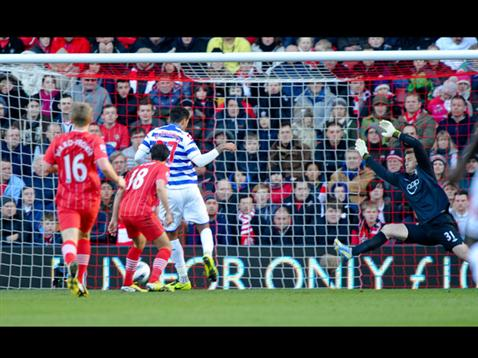 Jay Bothroyd scores what proves to be the winner for QPR at St Mary's