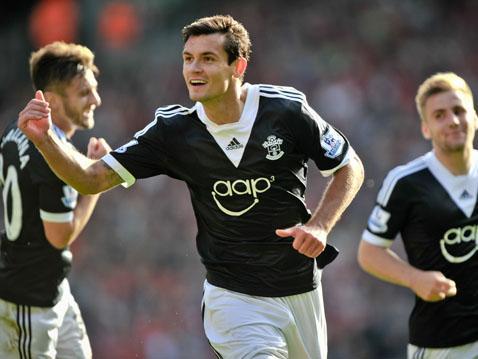 Dejan Lovren celebrates his goal at Anfield