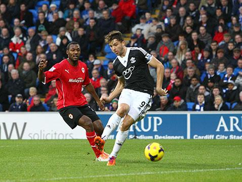 Jay Rodriguez doubles Saints' advantage at Cardiff