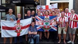 London Saints in Utrecht before Vitesse game